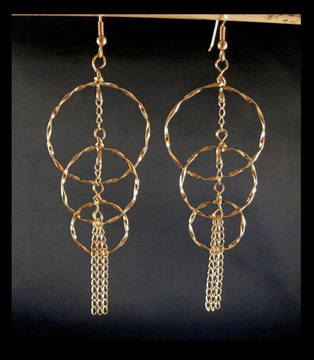 Class: Sherry's Twisted Circle Earrings 9:00 am - 12:30 pm